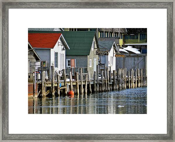 Fishtown In Leland Framed Print