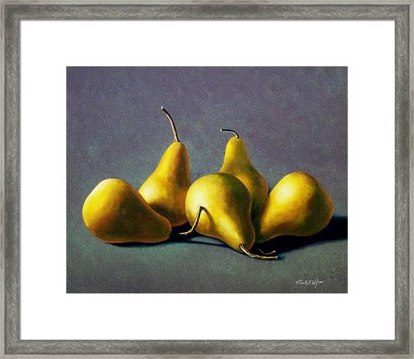 Five Golden Pears Framed Print