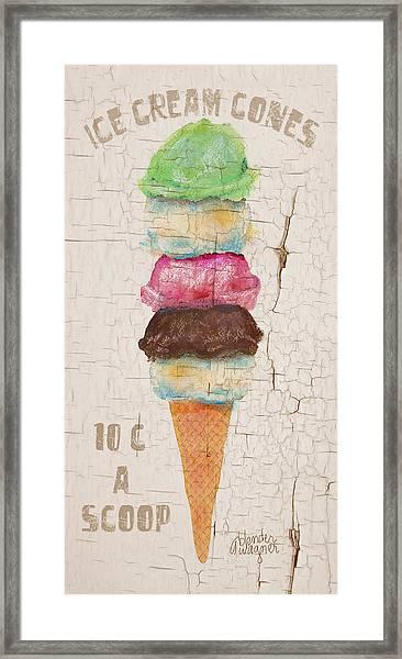 Five Scoops Framed Print