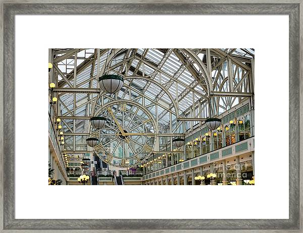 Five To Three - At St. Stephens Green Shopping Centre In Dublin Framed Print