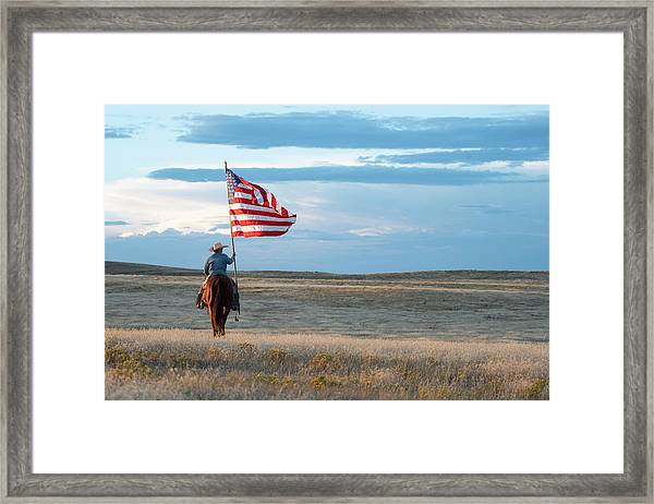 Flag Of Freedom Framed Print