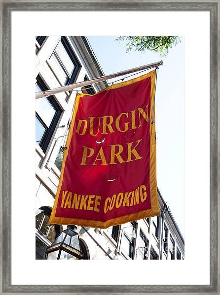 Flag Of The Historic Durgin Park Restaurant Framed Print