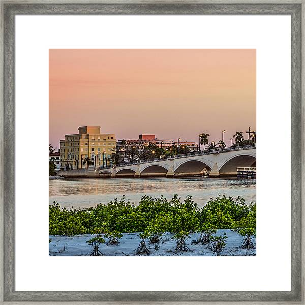 Flagler Bridge In The Evening I Framed Print