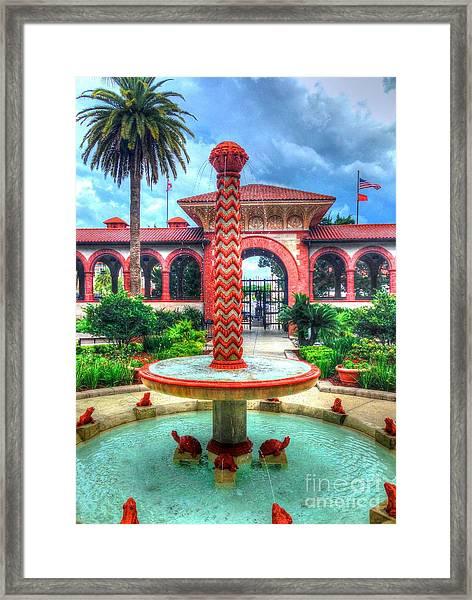 Flagler College Fountain Framed Print