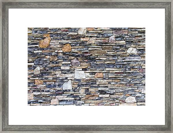 Flagstone Wall Framed Print