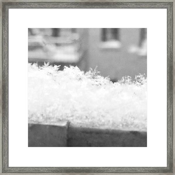 #flakes Framed Print by Ben Berry
