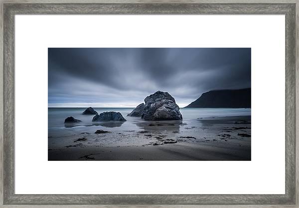 Flakstad Beach Framed Print