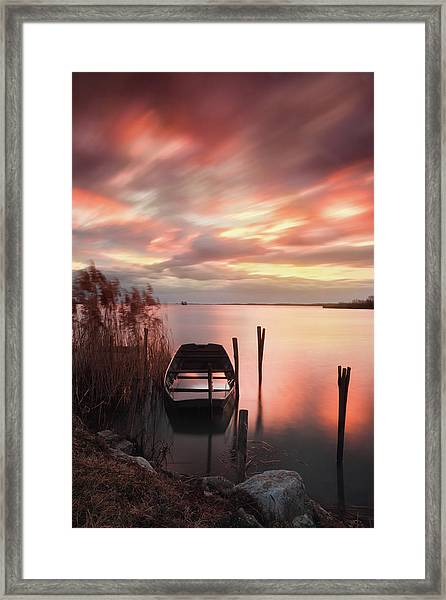 Flame In The Darkness Framed Print