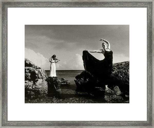 Flamenco Dancing Framed Print