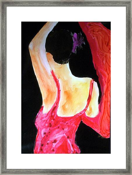 Flamenco Evening Framed Print