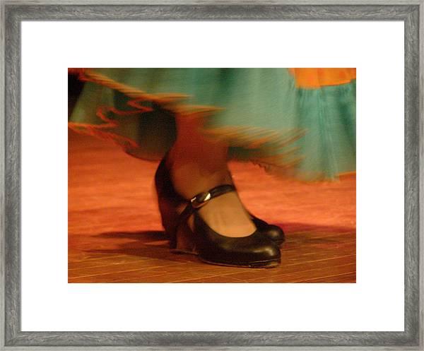 Flamenco Feet Framed Print