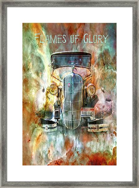 Flames Of Glory Framed Print