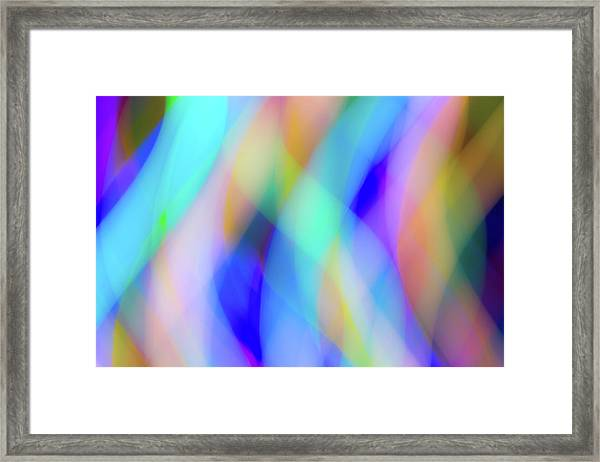 Flames Of Iridescence Framed Print