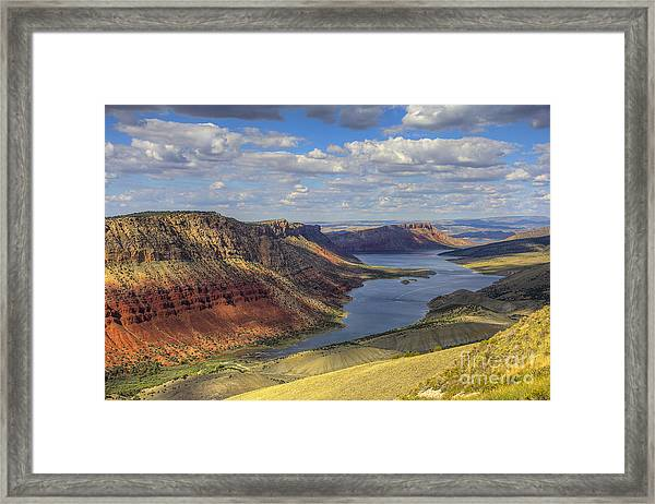 Flaming Gorge Framed Print