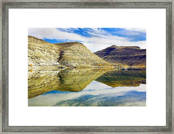 Flaming Gorge Water Reflections Framed Print