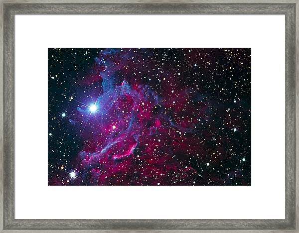 Flaming Star Nebula Framed Print