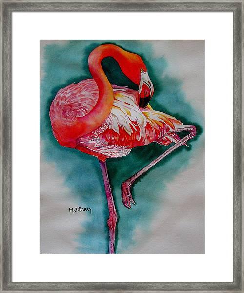 Flamingo Ballerina Framed Print
