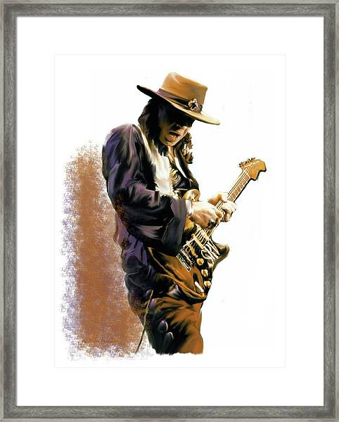 Flash Point Stevie Ray Vaughan Framed Print