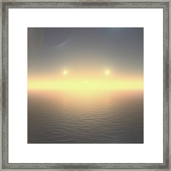 Framed Print featuring the digital art Flat Lights by Robert Thalmeier