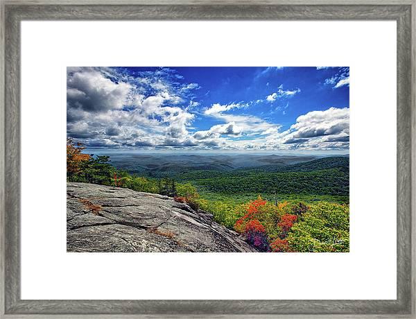 Framed Print featuring the photograph Flat Rock Vista by David A Lane