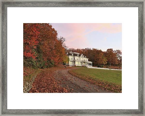 Flat Top Manor At Sunrise Framed Print