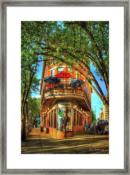 Flatiron Style Pickle Barrel Building Chattanooga Tennessee Framed Print