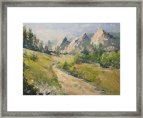 Flatirons In The Rockies Framed Print