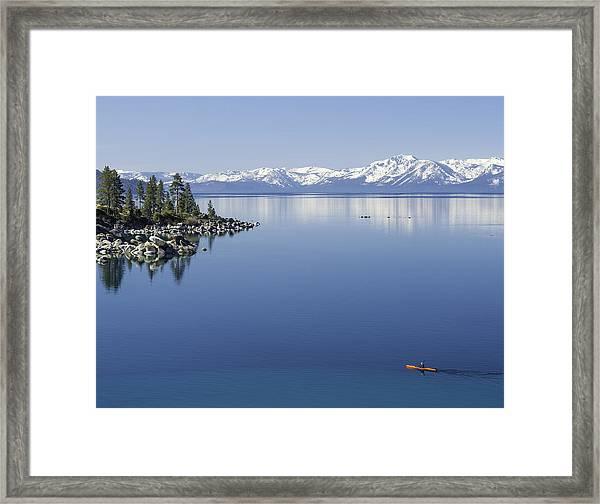 Flatwater Kayak Framed Print