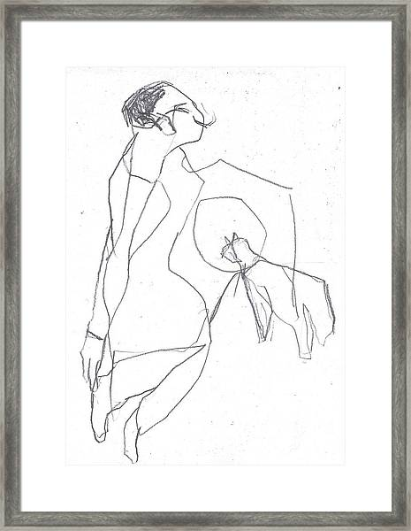 Fleeing Woman Framed Print