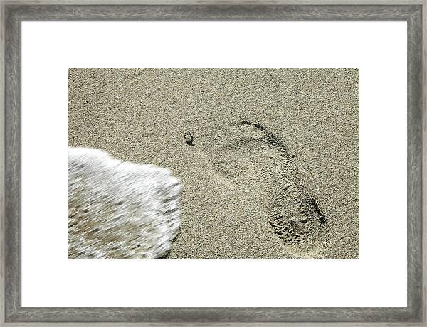 Fleeting Footprint - South Beach Miami Framed Print