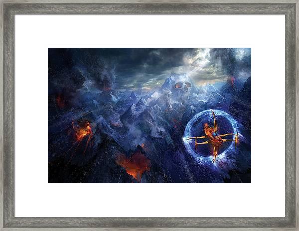 Flight Of The Dying Sun Framed Print