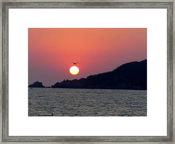 Flight Over The Sun Framed Print