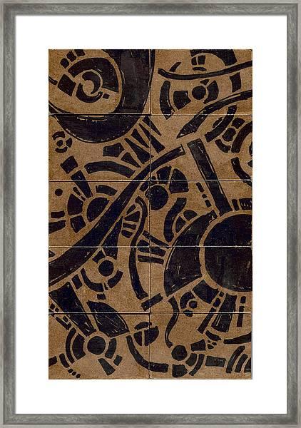 Flipside 1 Panel B Framed Print