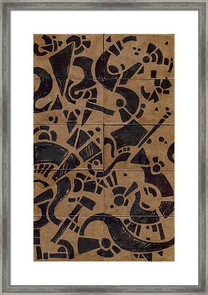 Flipside 1 Panel E Framed Print