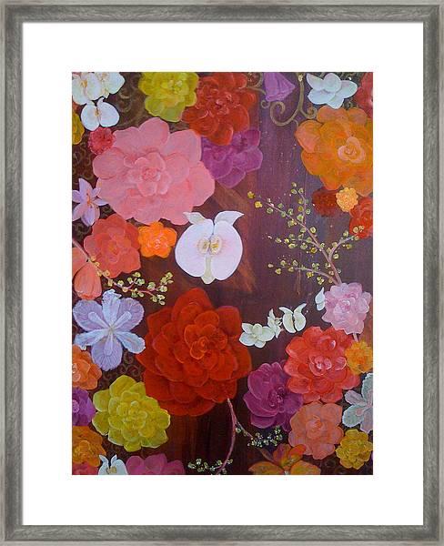 Flirty Blossoms Framed Print by Sabra Chili