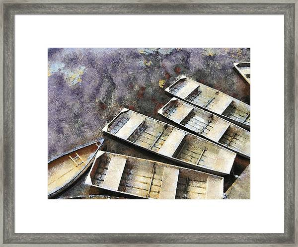 Float And Boat Framed Print