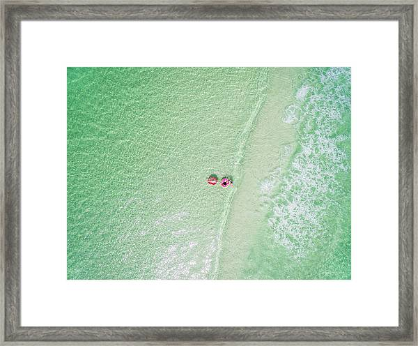 Float The Day Away On Gentle Waves Framed Print