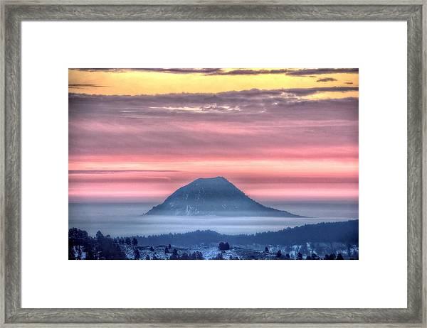 Floating Mountain Framed Print
