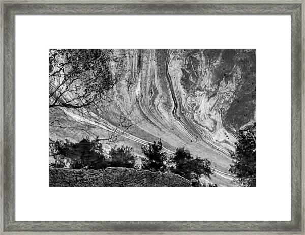 Floating Oil Spill On Water Framed Print