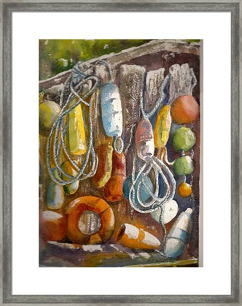 Floats Framed Print by KC Winters