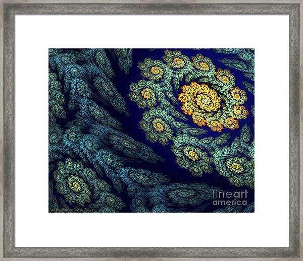 Framed Print featuring the digital art Floral Abyss by Sandra Bauser Digital Art