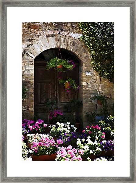 Floral Adorned Doorway Framed Print