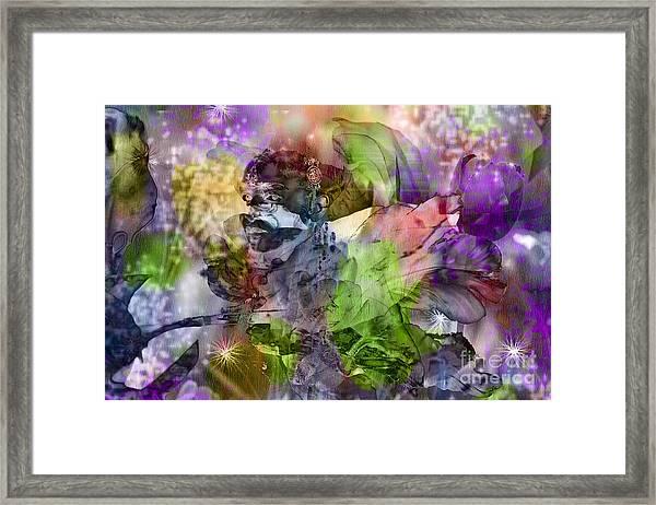 Floral Dream Of Oriental Beauty Framed Print