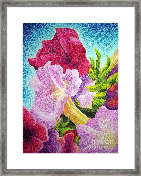Floral In Pinks Framed Print
