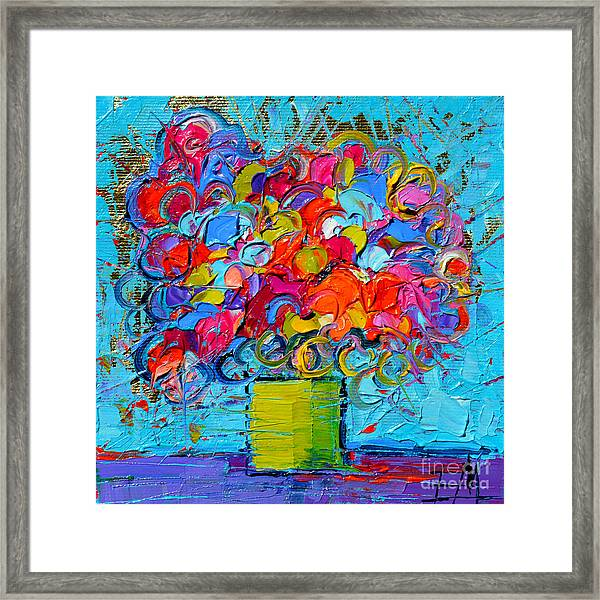 Floral Miniature - Abstract 0415 Framed Print