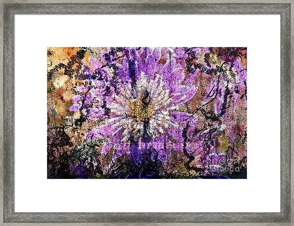 Floral Poetry Of Time Framed Print