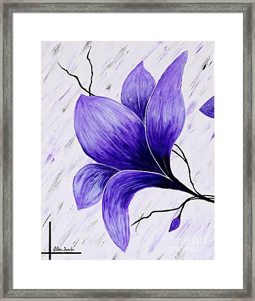 Floral Slumber Framed Print