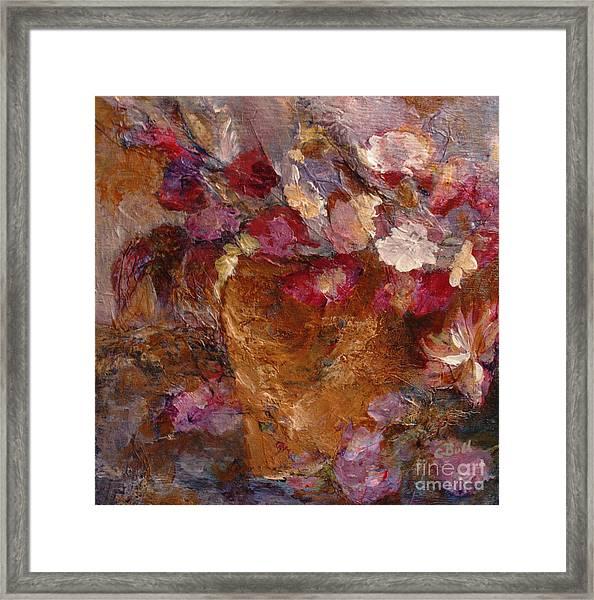 Floral Still Life Pinks Framed Print