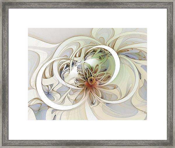 Floral Swirls Framed Print