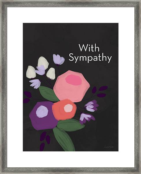 Floral Sympathy Card- Art By Linda Woods Framed Print